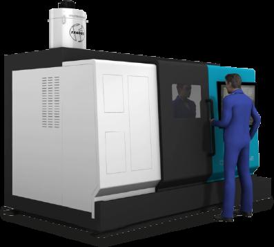 Filtermist unit on machine