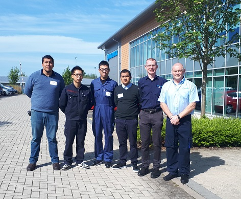 Dynamic Tools and Hertool staff visit UK for Filtermist training