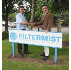 Filtermist welcomes new Chinese Business Development Manager to UK HQ